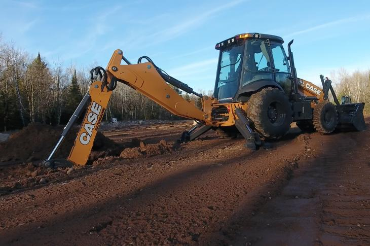 Case 580N backhoe loader has been enhanced