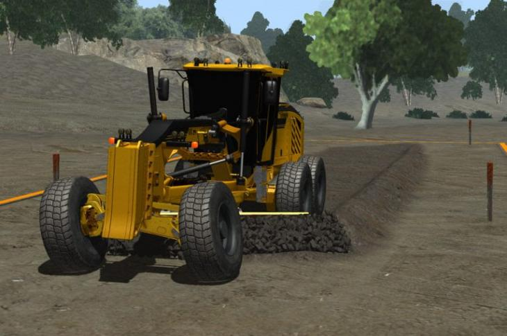 A Motor Grader Training Pack is available for deployment on the company's Vortex simulators.