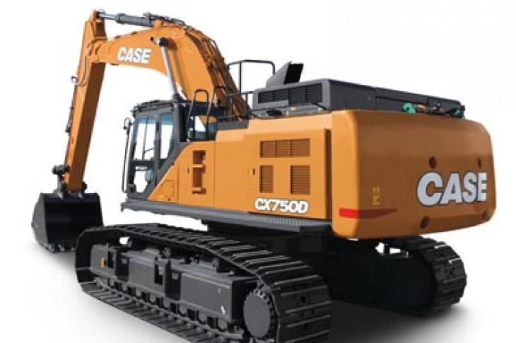 "Operating at 512 horsepower, Case CX750D is available in standard and ""mass excavation"" configurations."