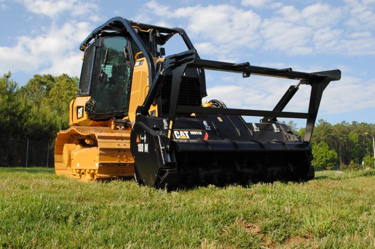 Cat D3K2 Mulcher combines the foundation of the D3K2 dozer with the Cat HM518 mulcher