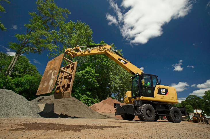 Cat F Series wheeled excavators include several models