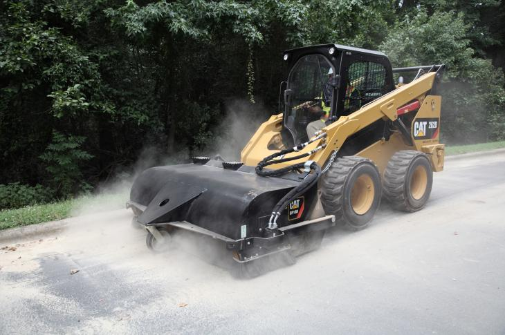Skid steers continue to be favored for pavement work.