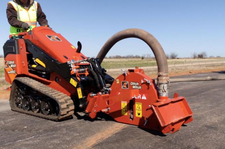 "The new MT9 micro-trencher attachment from Ditch Witch, is designed, says the company, ""to improve productivity and to reduce the cost-per-foot on small fiber job sites."""