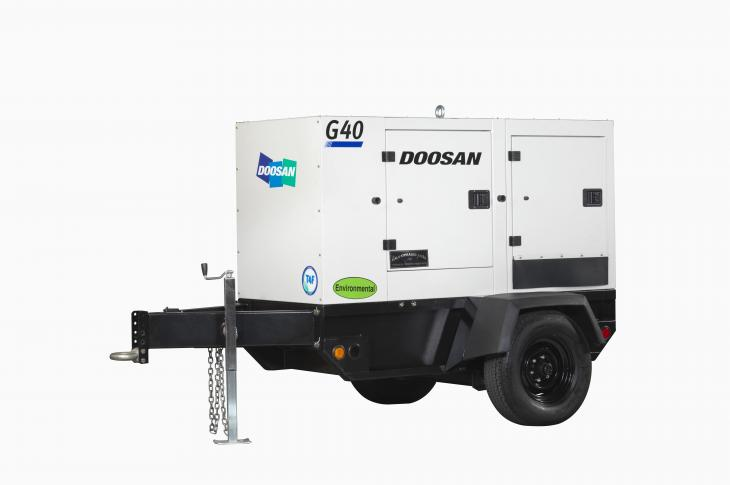 Doosan G40WDO generator is rated with output of 39 kVA