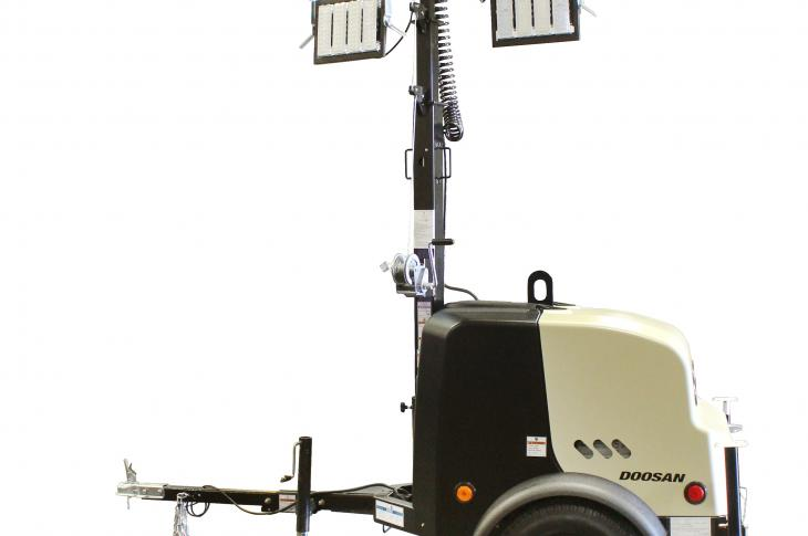 The LCV6 and LCV8 portable light towers feature a small-body design and vertical mast that allow for greater maneuverability and ease of transport, as well as a clamshell-style canopy that is lightweight and grants access to internal components for regular maintenance.