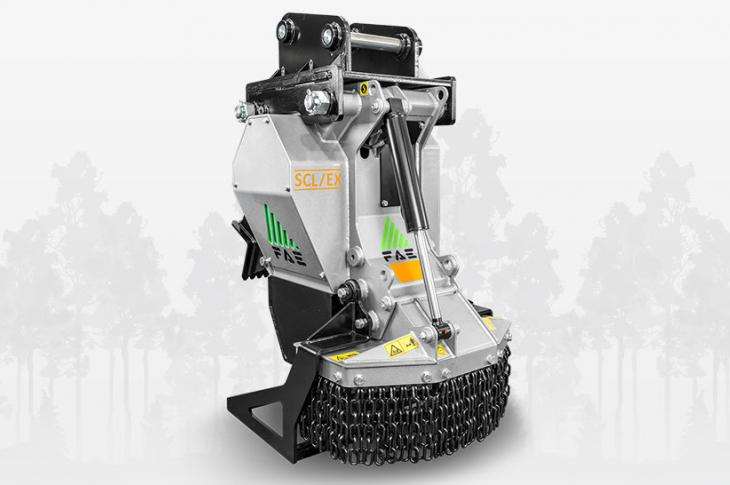 The SCL/EX/VT excavator stump cutter is designed for excavators from 7 to 15 tons with flow rates between 26 and 42 gpm.