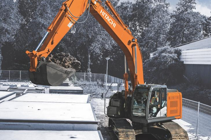 Hitachi ZX345USLC-6 excavator has reduced tail swing