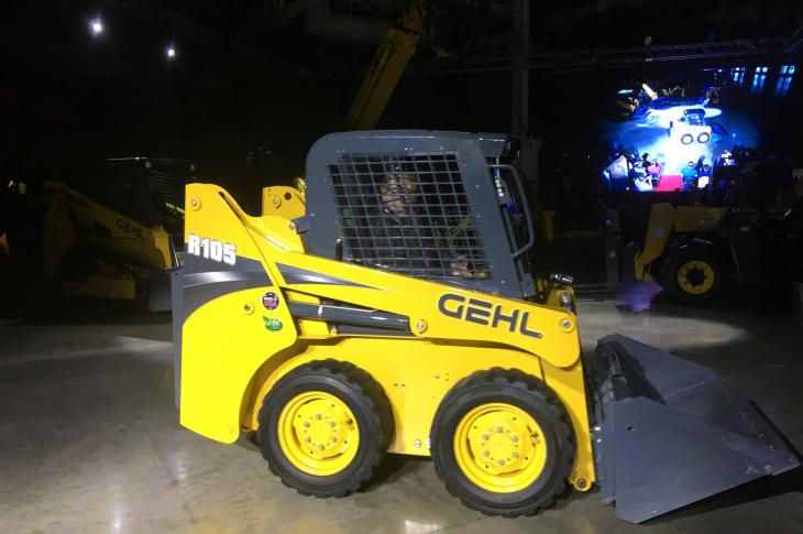The Gehl R105 skid steer loader has a 48-inch width and is now Tier 4-Final.