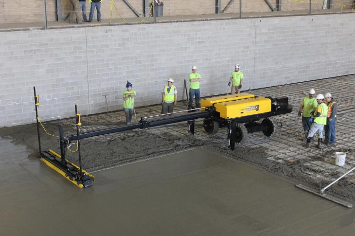 Ligchine International's newest boom-operated concrete screed, the ScreedSaver MAX PRO.