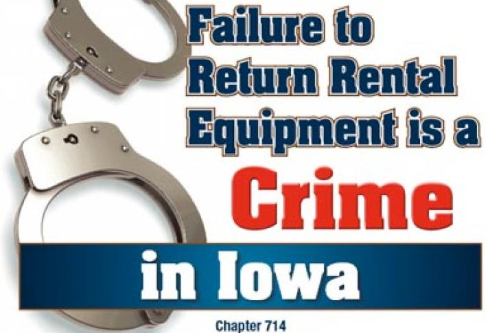 Iowa Expands Theft of Services Law for Equipment Rental