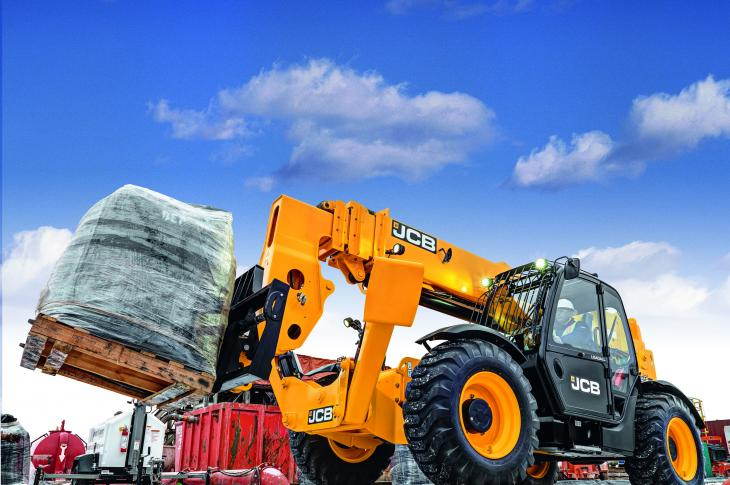 JCB 512-56 Loadall telehandler is now available with a 74-horsepower JCB EcoMAX engine
