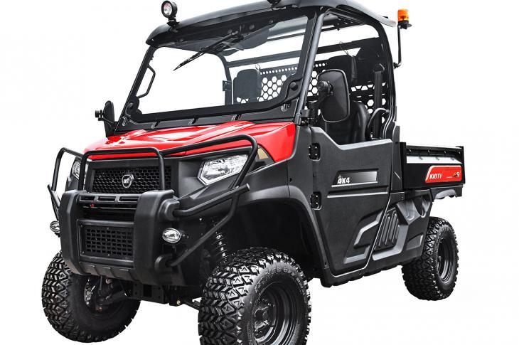 Kioti K9 2400 features an automotive-style dash configuration