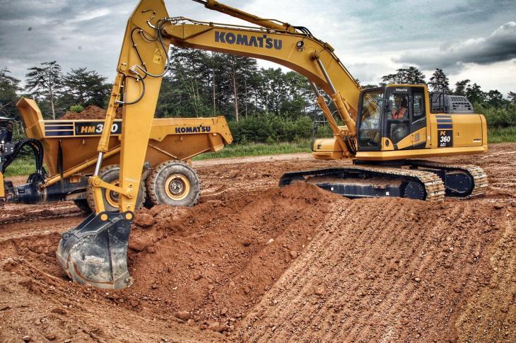 Komatsu PC360LCi-11 crawler excavator features Intelligent Machine Control