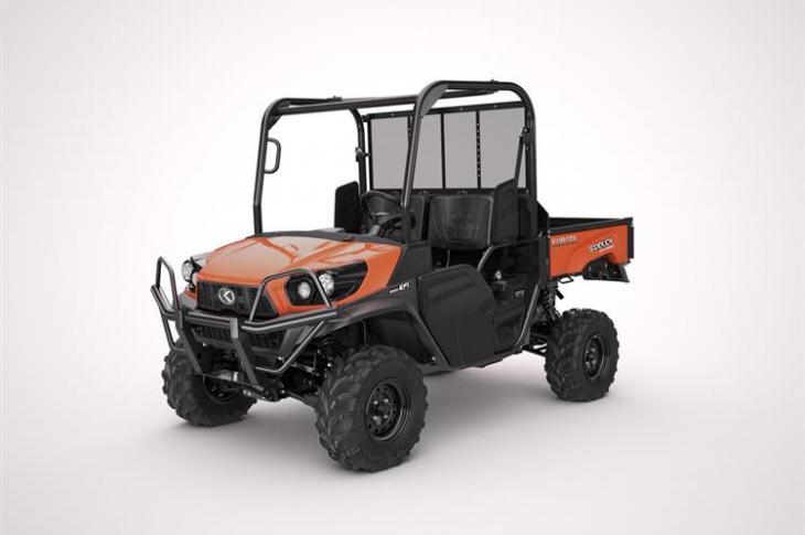Kubota RTV-XG850 Sidekick compact utility vehicle features a 48-horsepower gasoline engine