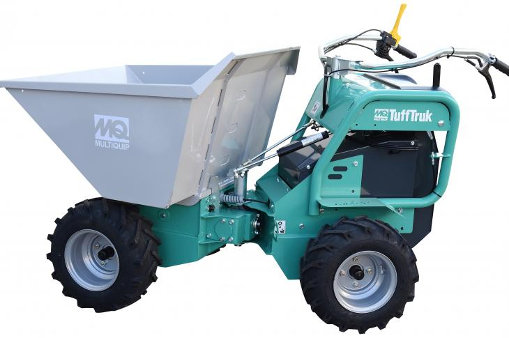 TuffTruk features four-wheel drive and a patented articulated design.