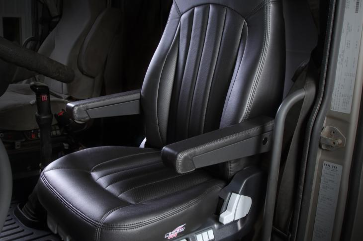 The Long Haul Series Seat is designed with 14 standard features, all of which are used when adjusting the seat to fit any body type, including females.