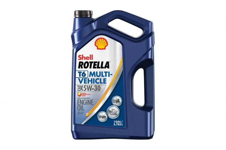 Shell Lubricant's T6 Multi-Vehicle 5W-30 engine oil is formulated for use in both diesel engines and heavy-duty gasoline engines.