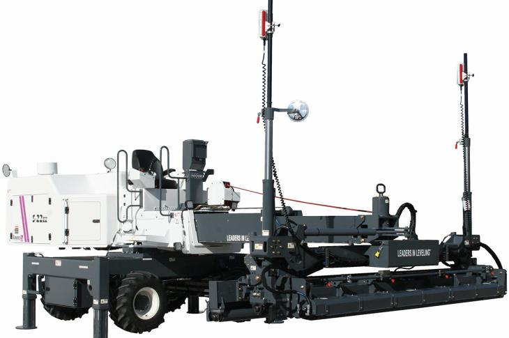 Somero S-22EZ Laser Screed has a new EZ Clean Head that has a rolled profile on the auger support beam
