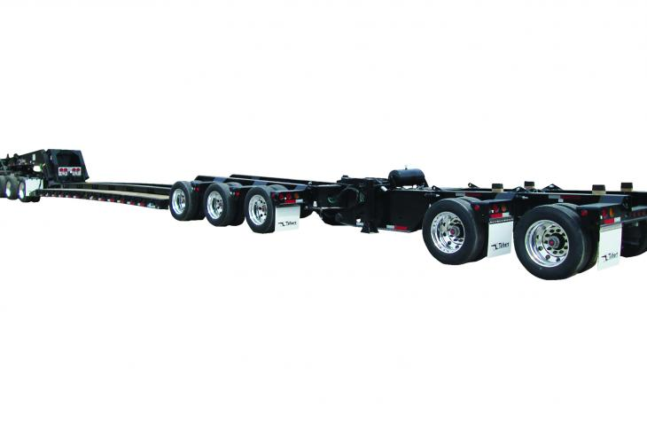"Talbert 60/65SA trailer is designed to accommodate both tri-axle and tandem-axle ""jeeps"""
