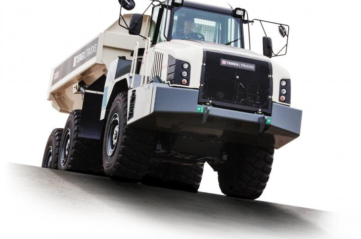 Terex TA300 articulated dump truck has a ZF EP320 transmission