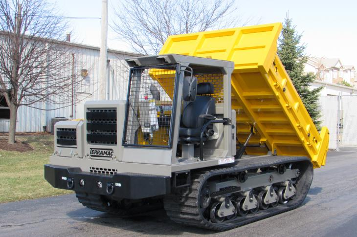 Terramac RT6 rubber-track crawler carrier is the company's most compact unit