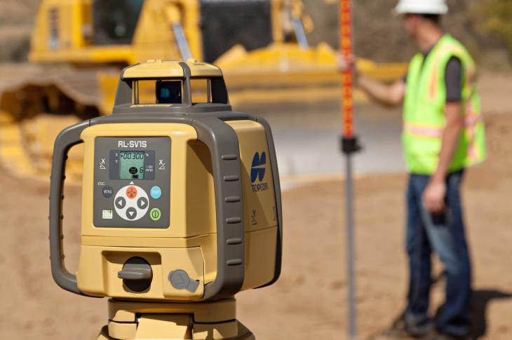 The RL-SV1S rotating laser for construction is designed to offer a self-leveling solution for single-slope applications.
