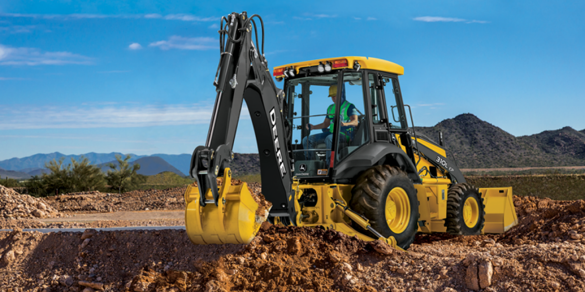 The 310L EP backhoe loader uses a 69-horsepower Yanmar Tier 4-I diesel engine